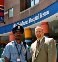 Tracy Myers (right) at Boston Children's Hospital