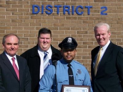 Longwood's Kendrick Raine Honored by Boston Police